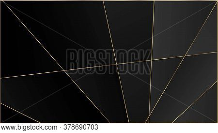Black Premium Triangular Pattern. Silver Vip Rich Geometric Celebration Wallpaper. Elegant Dark Plat