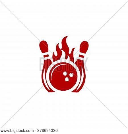 Bowling Icon Template Vector