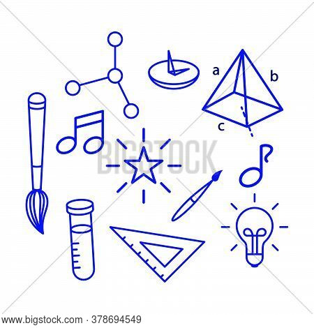 Back To School Element  Icon Vector