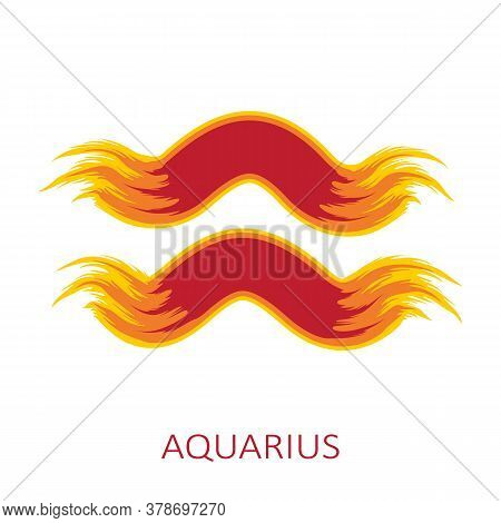 Zodiac Sign Aquarius Isolated On White Background. Zodiac Constellation. Design Element For Horoscop
