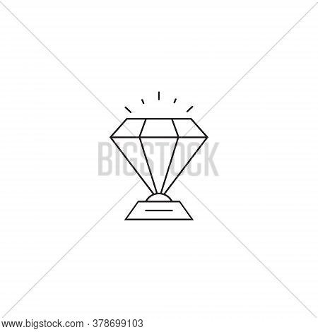 Diamond Icon Vector In Trendy Style. Expensive Stone Symbol Illustration