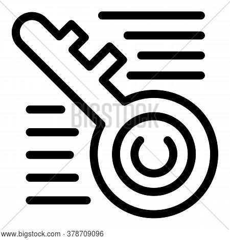Key Personal Information Icon. Outline Key Personal Information Vector Icon For Web Design Isolated