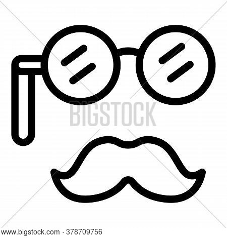 Old Mustache Personal Traits Icon. Outline Old Mustache Personal Traits Vector Icon For Web Design I