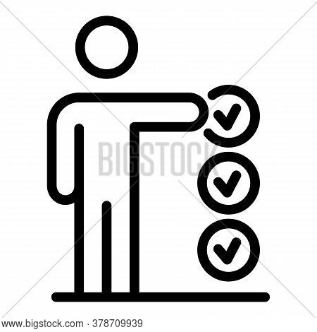 Approved Personal Trait Icon. Outline Approved Personal Trait Vector Icon For Web Design Isolated On