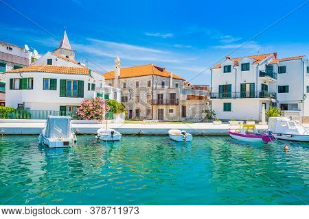 Croatia, Adriatic Coastline, Coastal Town Of Pirovac, Waterfront View