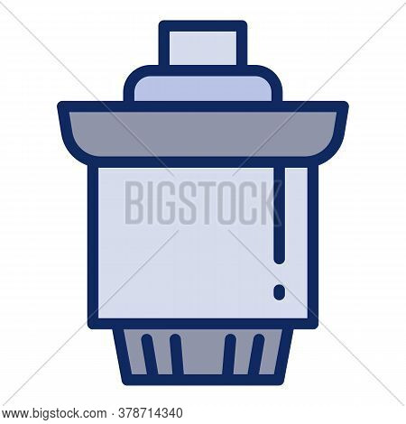 Cartridge Water Filter Icon. Outline Cartridge Water Filter Vector Icon For Web Design Isolated On W