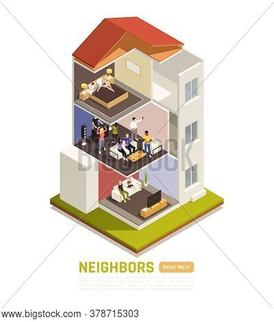 Common Neighbor Disputes Isometric Composition With Flat Dwellers Suffering From Loud Music Party No