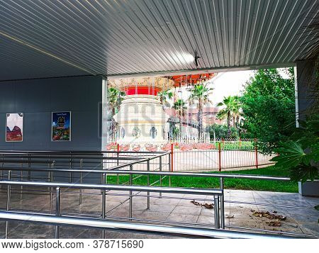 Sochi, Russia, 20 June 2020. The Attraction Is Closed In Sochi Park. Quarantine Coronavirus. No Peop