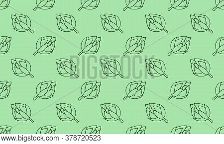 Vector Seamless Pattern Of Vegetables. Hand Drawn Doodle Illustration Of Healthy Farm Food. Organic