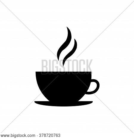 Coffe Icon Vector. Coffe Cup Icon Isolated On White Background