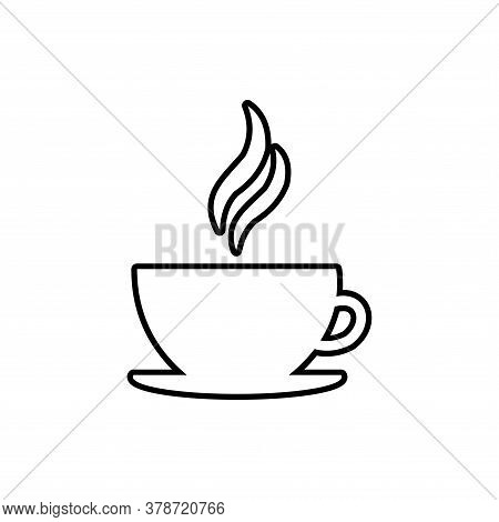Coffe Outline Icon Vector. Coffe Cup Icon Isolated On White Background