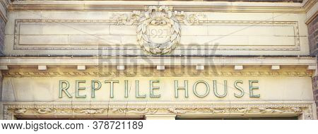 Reptile House, London Zoo, Uk, 2020.  The Reptile House In London Zoo Was Built In 1927 And House A