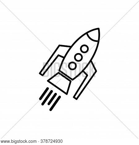 Rocket Icon Isolated On White Background From Startup Collection. Rocket Icon Trendy And Modern Rock