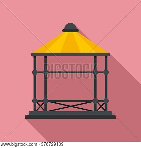Arbor Gazebo Icon. Flat Illustration Of Arbor Gazebo Vector Icon For Web Design
