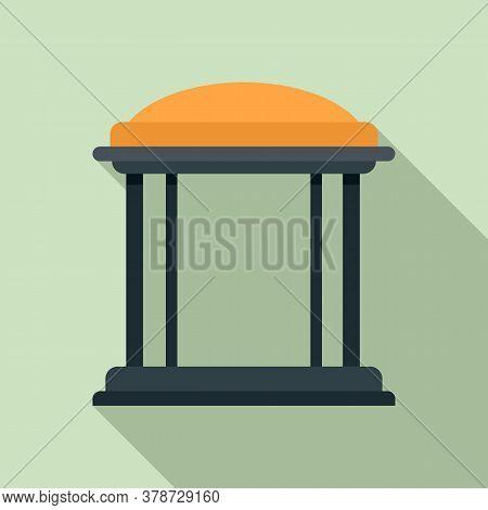 Arch Gazebo Icon. Flat Illustration Of Arch Gazebo Vector Icon For Web Design