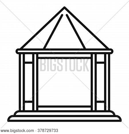 Structure Gazebo Icon. Outline Structure Gazebo Vector Icon For Web Design Isolated On White Backgro