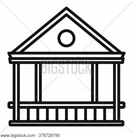 Furniture Gazebo Icon. Outline Furniture Gazebo Vector Icon For Web Design Isolated On White Backgro