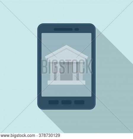 Smartphone Bank Online Loan Icon. Flat Illustration Of Smartphone Bank Online Loan Vector Icon For W