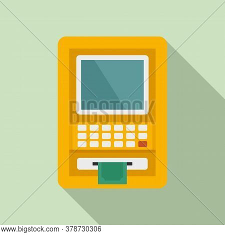 Atm Money Online Loan Icon. Flat Illustration Of Atm Money Online Loan Vector Icon For Web Design