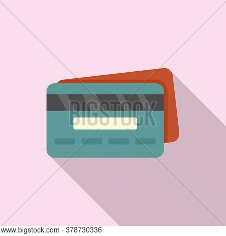 Credit Card Loan Icon. Flat Illustration Of Credit Card Loan Vector Icon For Web Design