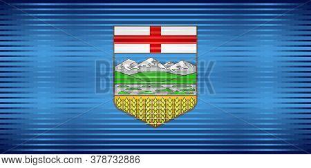 Shiny Grunge Flag Of The Alberta - Illustration,  Three Dimensional Flag Of Alberta