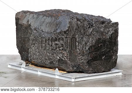 Big Block Of Black Anthracite Coal Ore