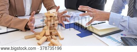 Blaming Business Concept, Senior Executive Manager Blaming Employee For Mistake Or Failure, Business