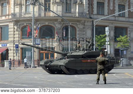 Moscow, Russia - June 20, 2020:russian Main Tank T-90m
