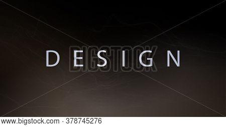 Abstract Design Of A Dark Brown Shade, A Thin Light Veil, Like A Light Haze