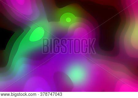 Beautiful Shining Festive Abstract Background Of Random Contrast Blots, Sweet Style Fashion Entertai