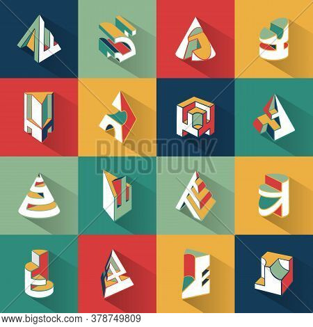 Abstract Modern Background. Trendy Style With Geometric Forms And Shapes