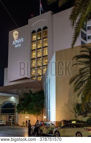 Ajman, Uae - April 5. 2018. General Form Of The Ajman Hotel