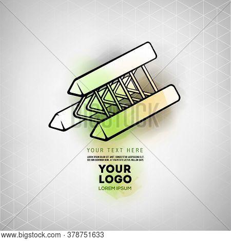 Vector Abstract Geometric Figure Prism Logo Design