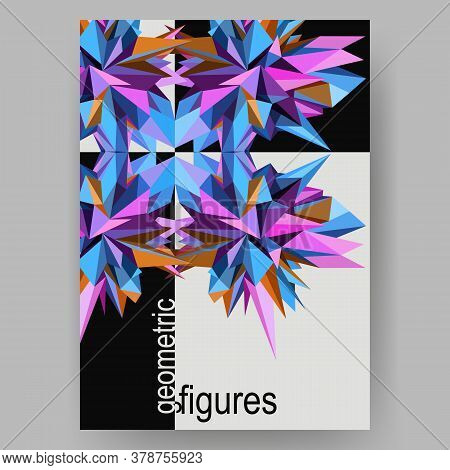 Abstract Geometric Asymmetric Poster Design. Vector Illustration
