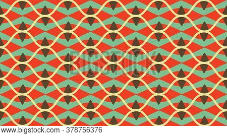 Arabic Pattern Background.  Delicate Beautiful Ornament.  Repeating Tile Interior Design Background.