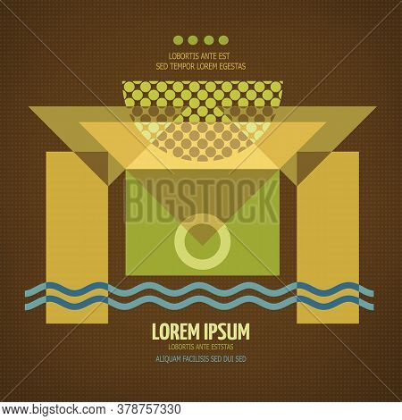 Abstract Geometric Modern Symmetric Design. Vector Illustration