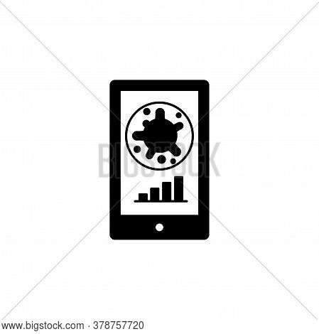 Virus, Bacteria In Smartphone And Schedule, Chart, Graph Icon, Symbol, Sign. Coronavirus, Covid-19 I