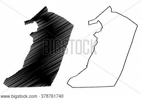 Hail City (kingdom Of Saudi Arabia, Hail Region) Map Vector Illustration, Scribble Sketch City Of Ha