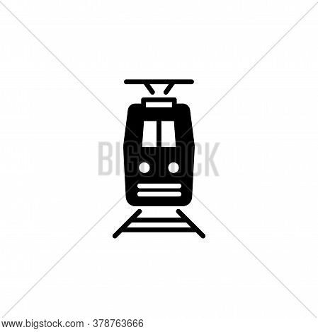Train Icon Front View. Simple Sign, Logo.