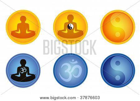 Set Of Meditation Signs