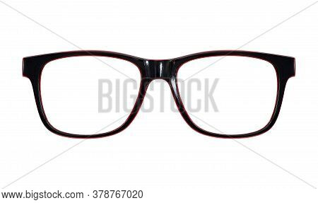 Glasses With Clear Glasses Isolated On White Background