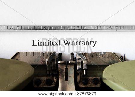 Limited Warranty Form