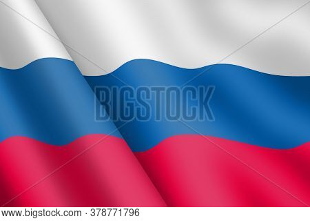 A Russian Federation Waving Flag 3d Illustration Wind Ripple