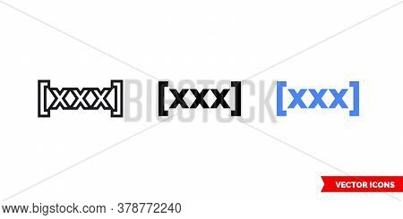 Redeem Icon Of 3 Types. Isolated Vector Sign Symbol.