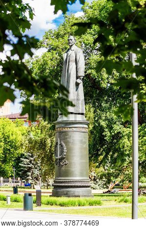 The Monument To Dzerzhinsky In The Park Muzeon. Moscow, Russia-june 2019