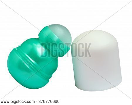 Green Deodorant Isolated On A White Background