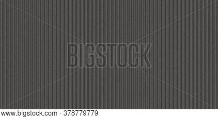 Dark Gray Corrugated Metal Texture. Crimp Fence Background. Ribbed Metallic Surface. Wavy Iron Wall