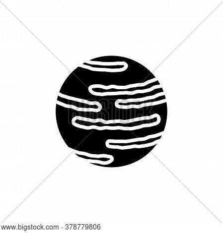 Neptune Planet Icon Vector. Neptune Planet Simple Sign, Logo.