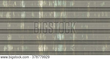 Dark Corrugated Metal Texture. Crimp Fence Background. Ribbed Metallic Surface. Wavy Iron Wall Patte