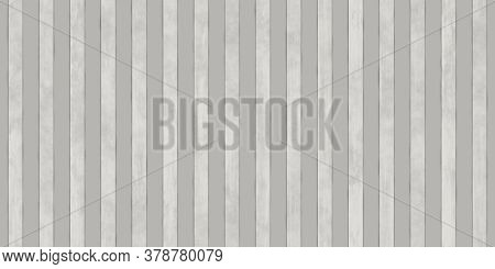 Gray Wavy Iron Wall Pattern. Fluted Metal Fencing Backdrop. Corrugated Metal Texture. Crimp Fence Ba